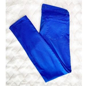 J BRAND royal blue skinny jeans